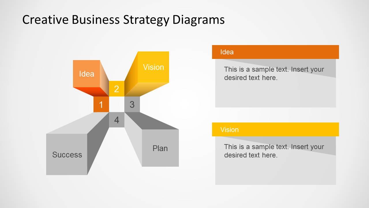 creative business strategy diagram for powerpoint slidemodel. Black Bedroom Furniture Sets. Home Design Ideas