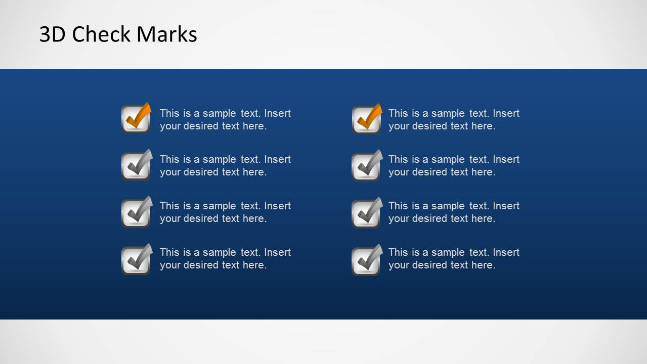 Task List PowerPoint Slide Design with 8 Check Marks