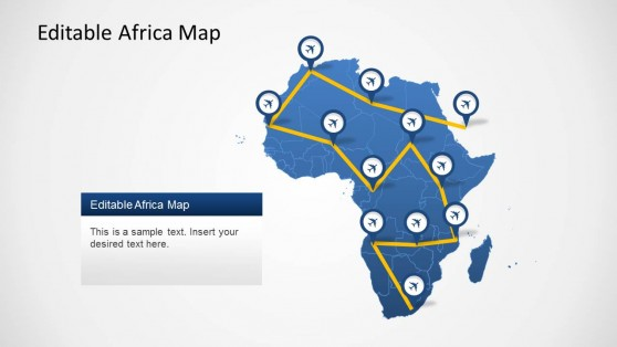 Continent Africa PowerPoint Map