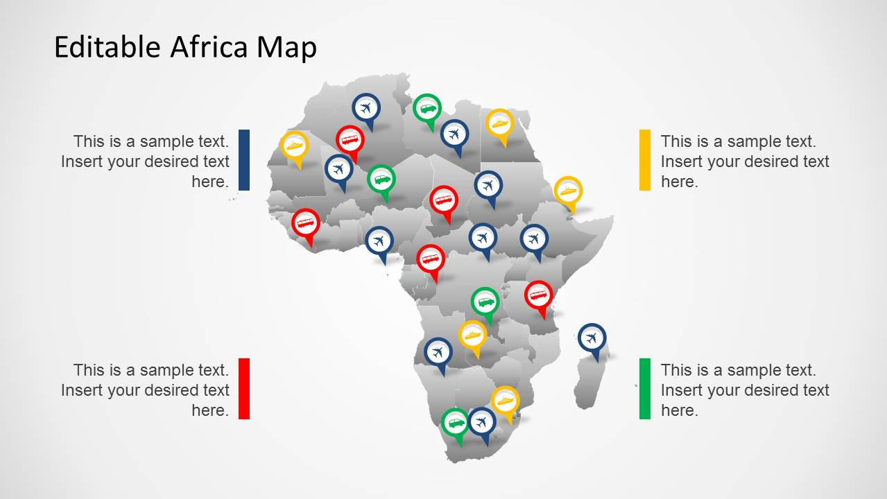 africa map template for powerpoint