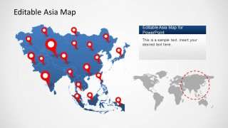 PowerPoint Map of Asia