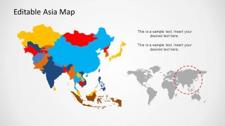 PowerPoint Map of Asia and Countries