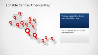 Central america map template for powerpoint slidemodel the central america map template for powerpoint is a customizable map template which accurately displays the map of central america including maps of toneelgroepblik Images