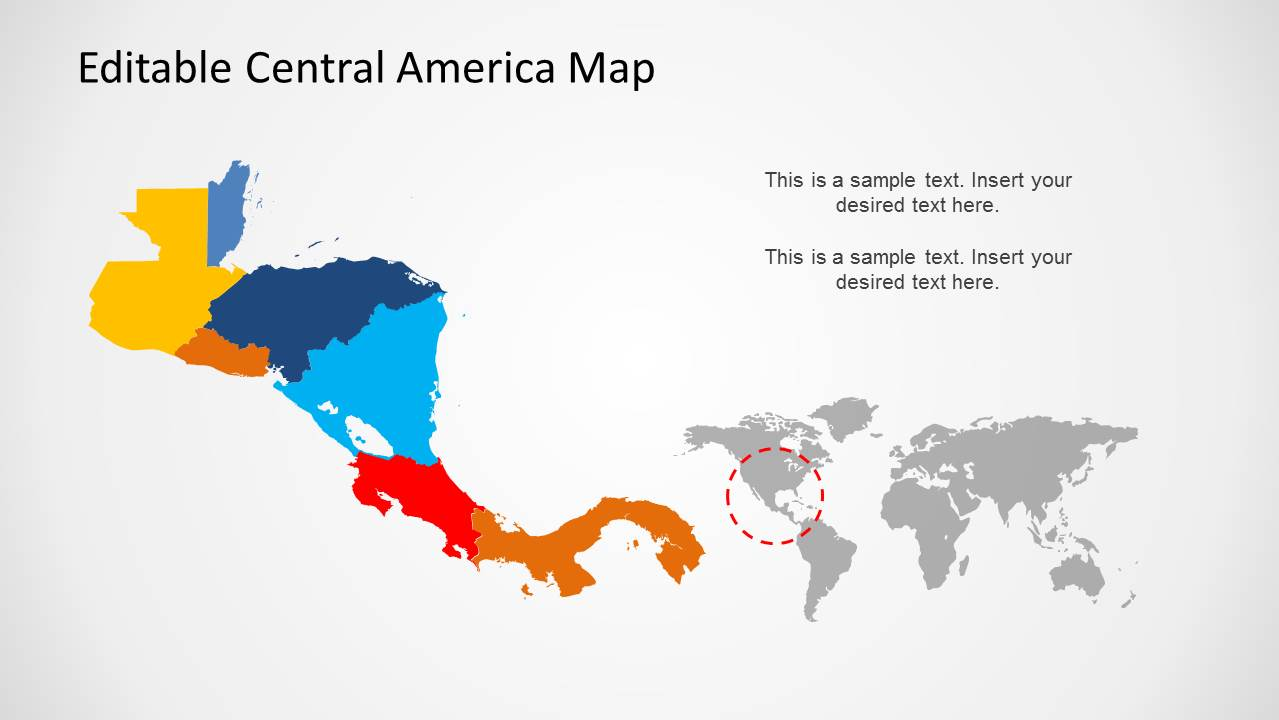 Central America Map Template for PowerPoint - SlideModel