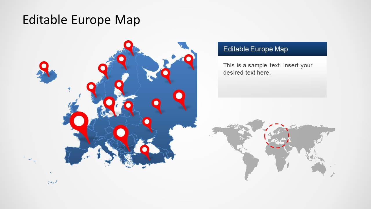 Europe map template for powerpoint slidemodel powerpoint map of europe powerpoint template toneelgroepblik Gallery