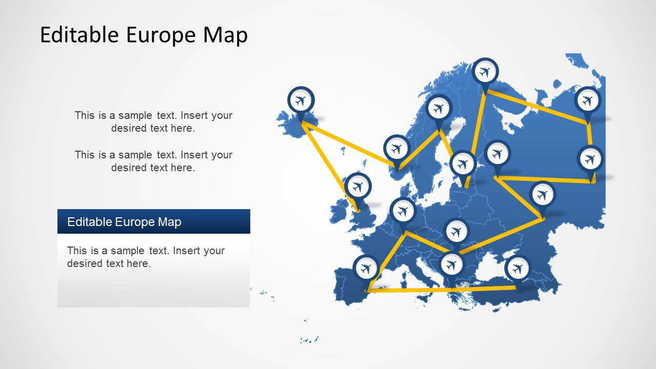 PowerPoint Template of Europe Map