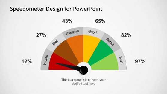 Colorful Gauge Design for PowerPoint