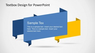 Creative PowerPoint Text Boxes, simple relevant textbox , papyrus style in blue and light background