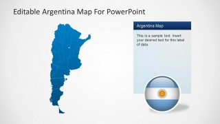 Editable Map of Argentina for PowerPoint