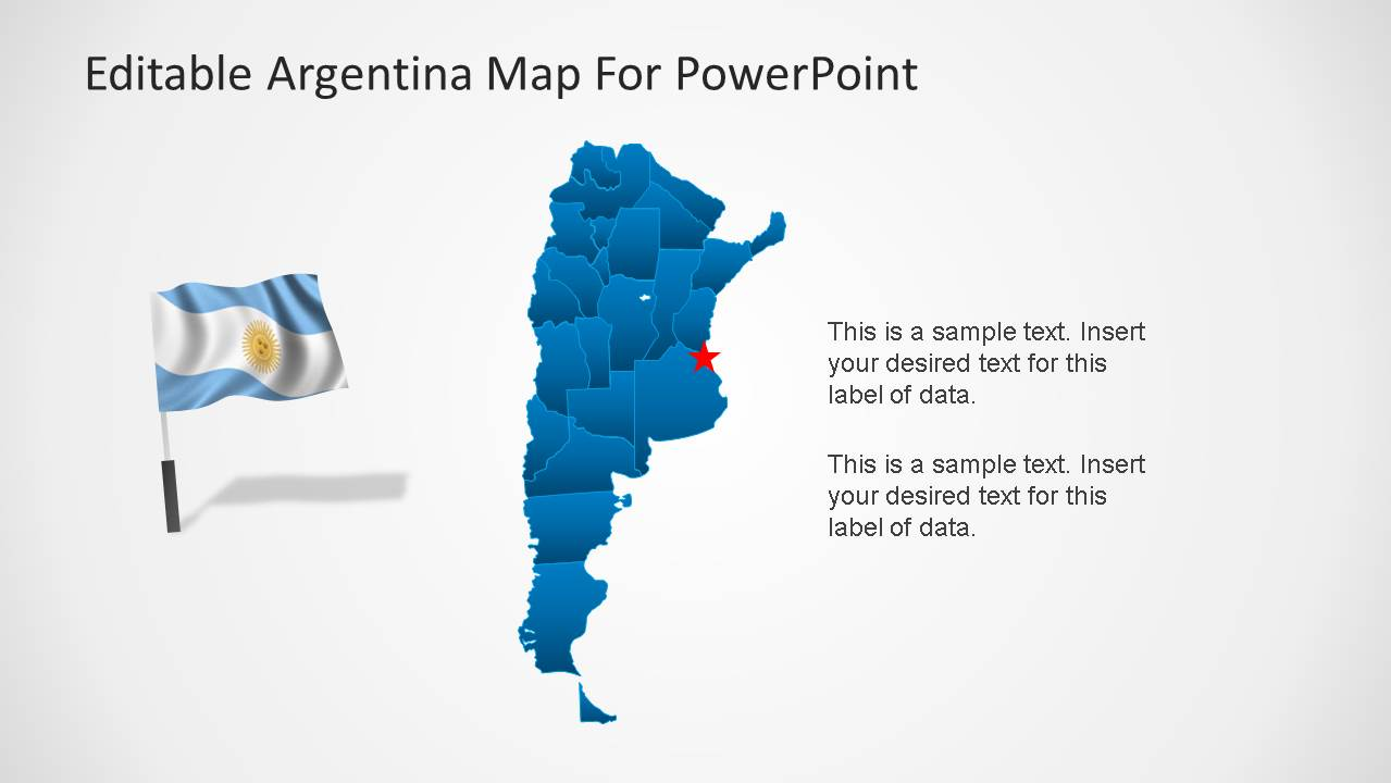 Argentina map template for powerpoint slidemodel argentina map flag for powerpoint gumiabroncs Image collections