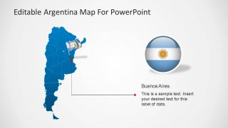 Buenos Aires Capital PowerPoint Map