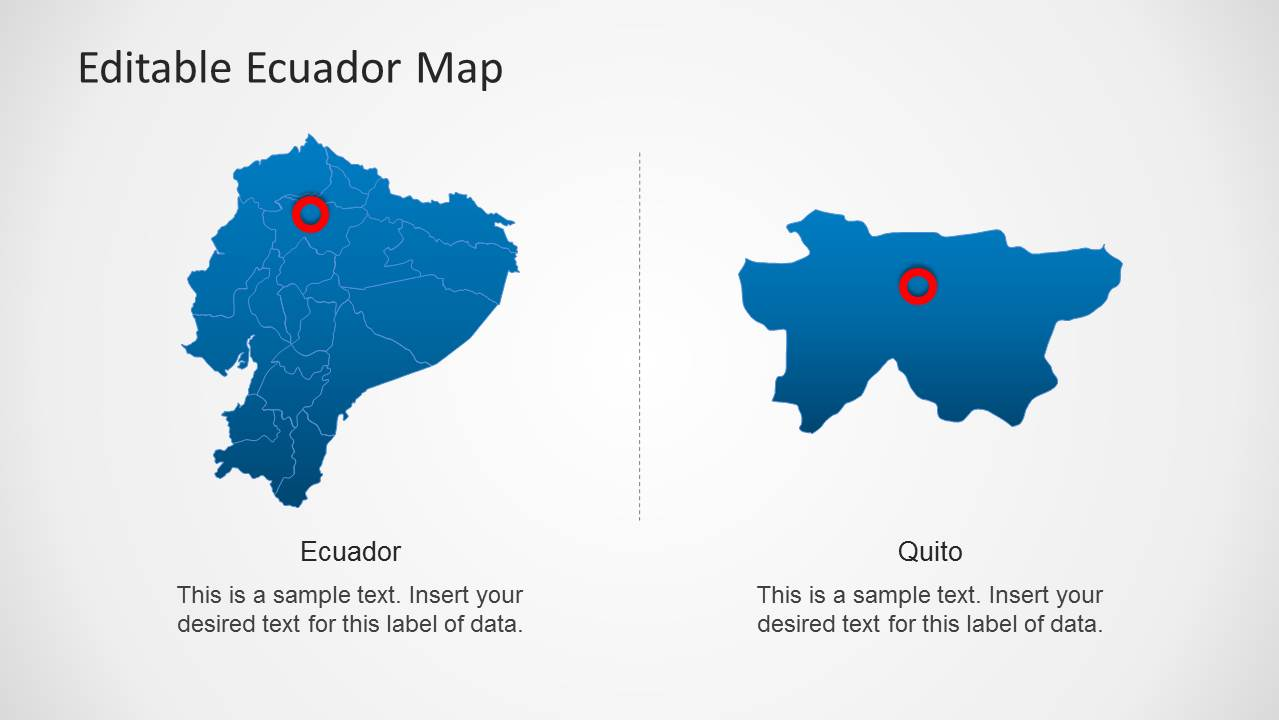 Ecuador map template for powerpoint slidemodel gumiabroncs Choice Image