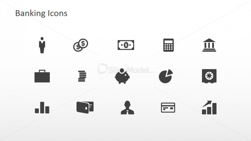 banking icons powerpoint slide