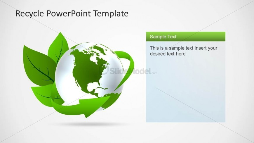 Eco-Friendly Green Earth Clipart for PowerPoint