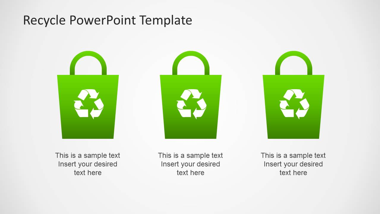 Recycle Bag Clipart for PowerPoint