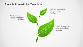Green Leaves Clipart for PowerPoint
