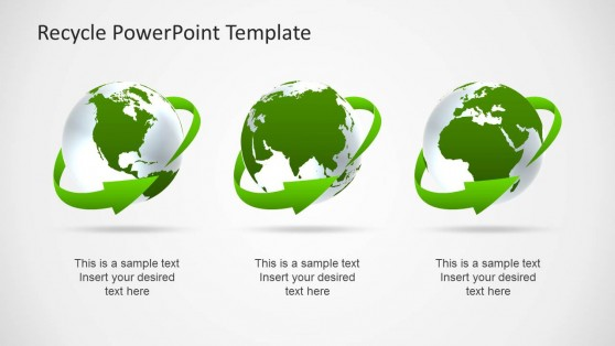 Green Earth Clipart Design for PowerPoint