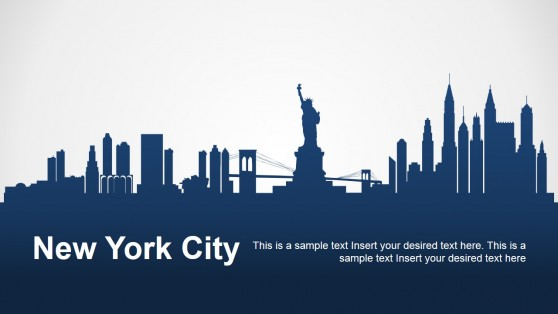 New York City Silhouette for PowerPoint