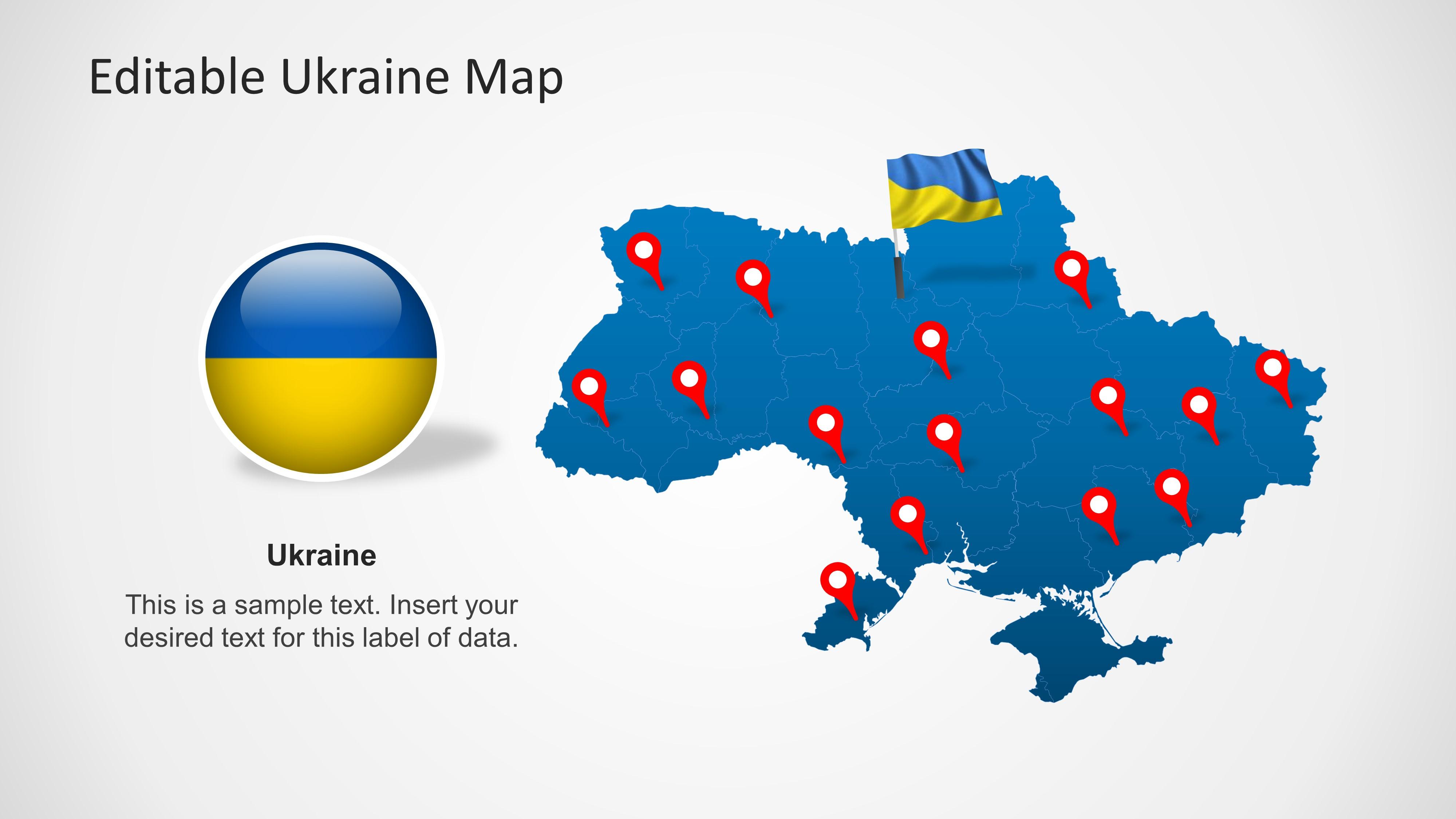 Ukraine map template for powerpoint slidemodel ukraine map template for powerpoint toneelgroepblik Images