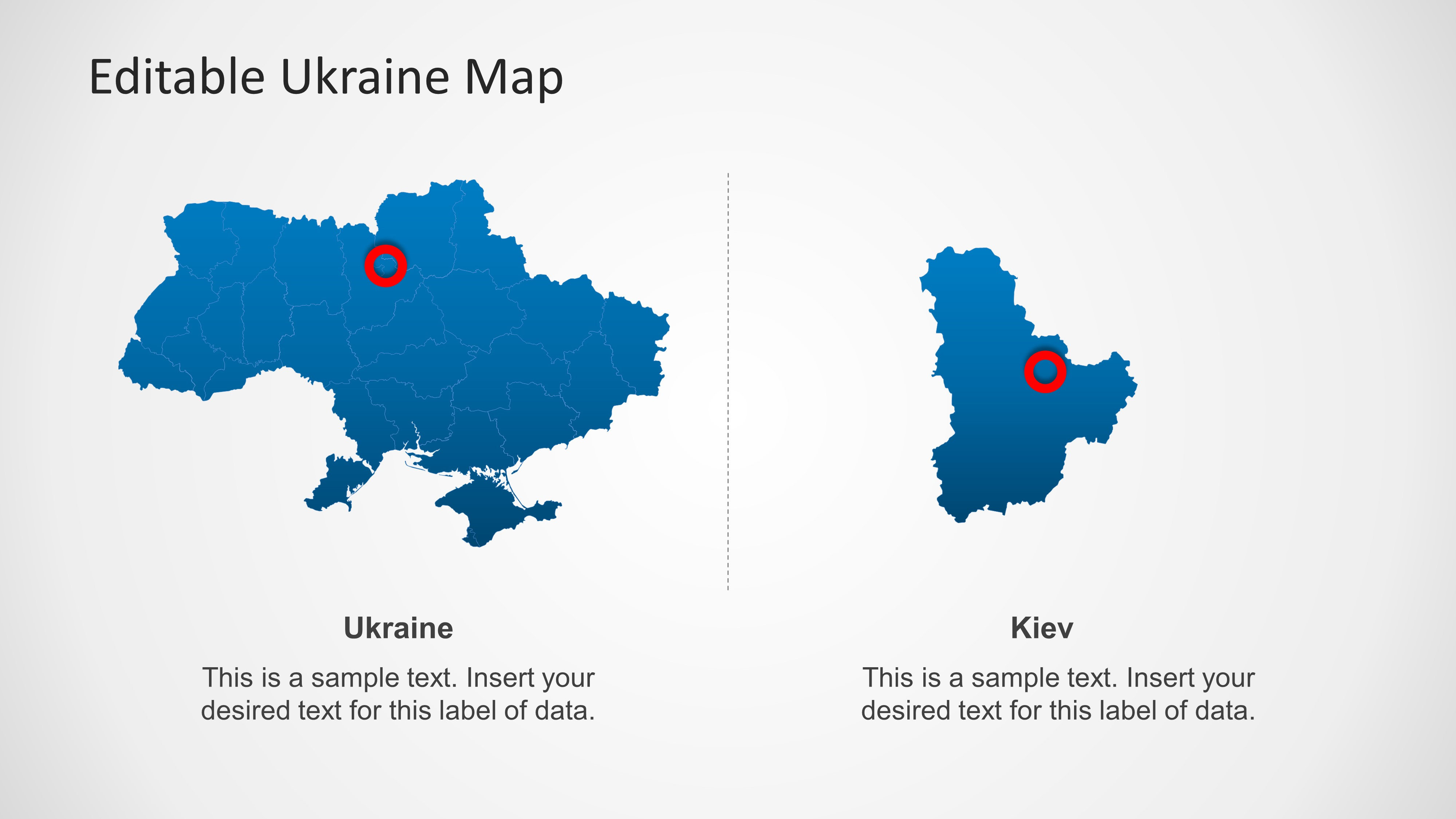 Ukraine map template for powerpoint slidemodel gumiabroncs Gallery