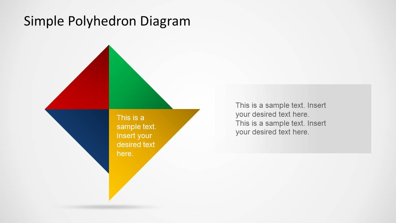 Simple Polyhedron Diagram For Powerpoint