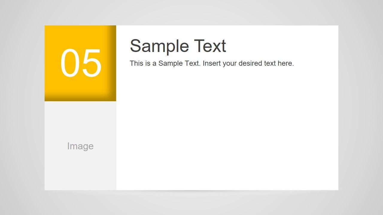 Number 5 Slide Design for PowerPoint