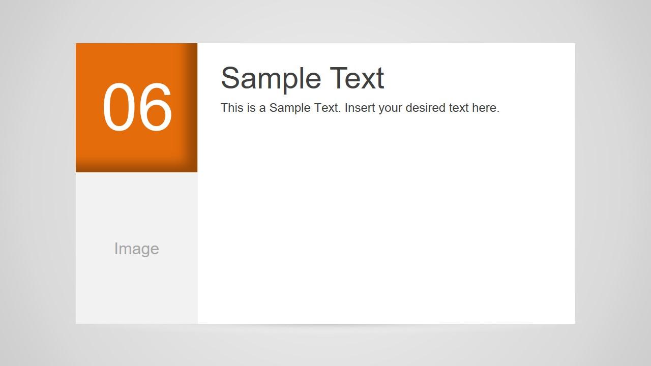 Number 6 Slide Design for PowerPoint