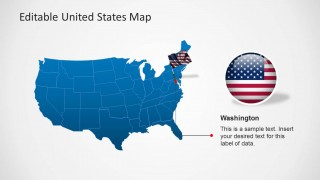 United States Map Template For PowerPoint SlideModel - Customizable map of us