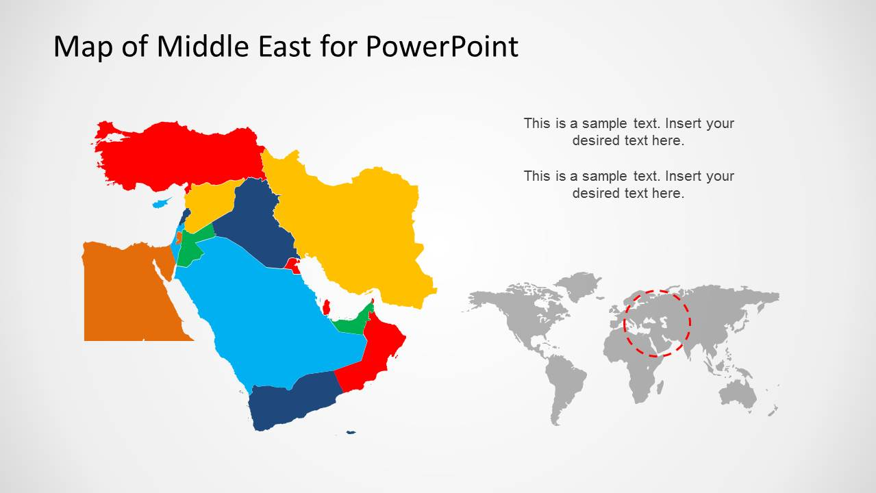 Middle East Map Template For Powerpoint Slidemodel