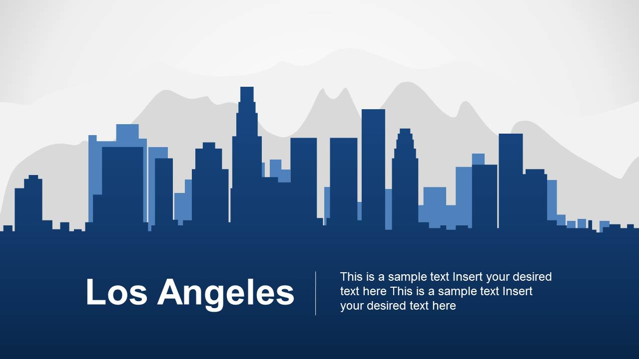 los angeles powerpoint template