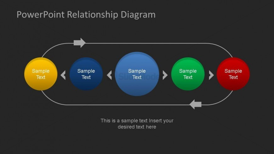 Relationship Diagram for PowerPoint Dark Background