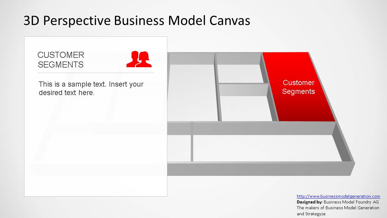 3d perspective business model canvas powerpoint template slidemodel 3d perspective business model canvas powerpoint template customer segments flashek Gallery
