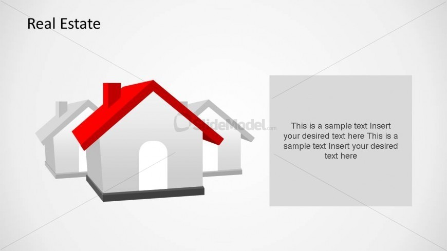 PowerPoint Clipart House in 3D
