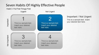 Seven Habits of Highly Effective People - Habit Three Shapes