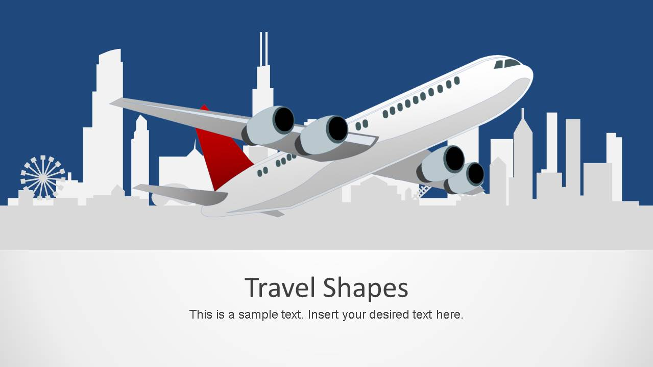 travel shapes for powerpoint