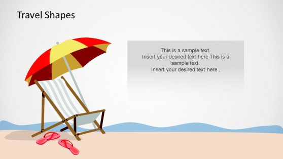 Beach Theme Clipart Slide Design