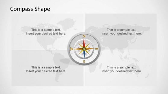 Professional Compass Clipart for PowerPoint