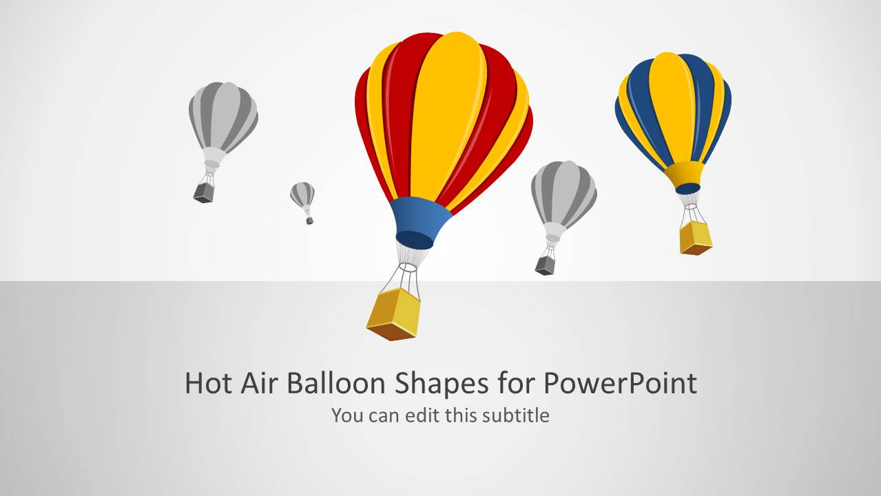 Hot Air Balloon Shapes For PowerPoint