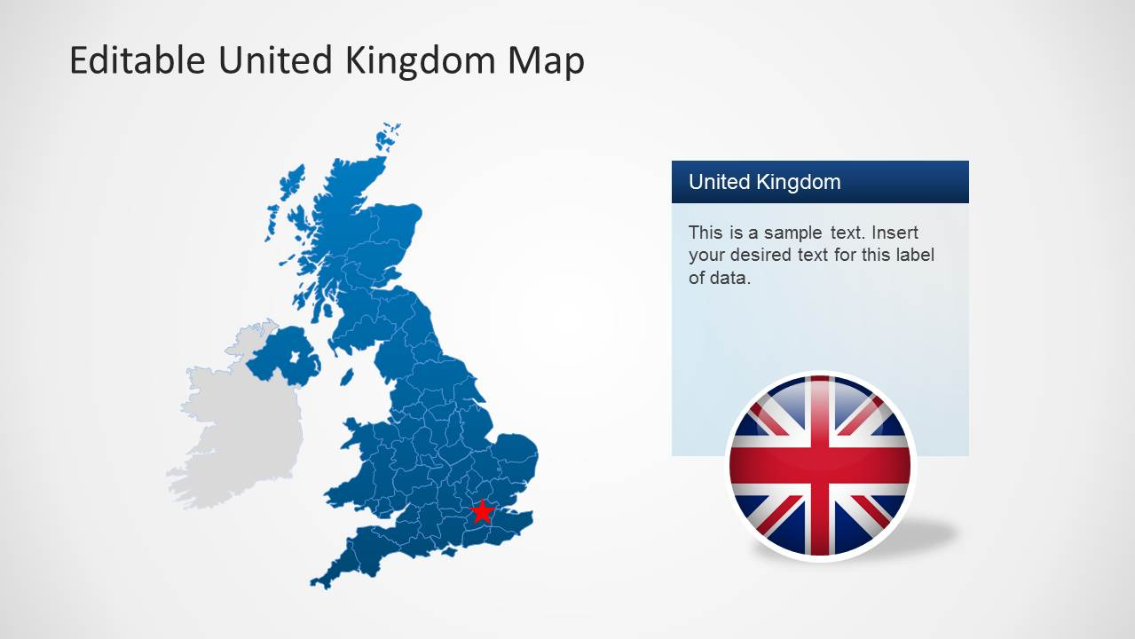 Uk map template for powerpoint slidemodel powerpoint map of uk toneelgroepblik Image collections