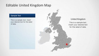 PowerPoint Map of UK with London Star Locator
