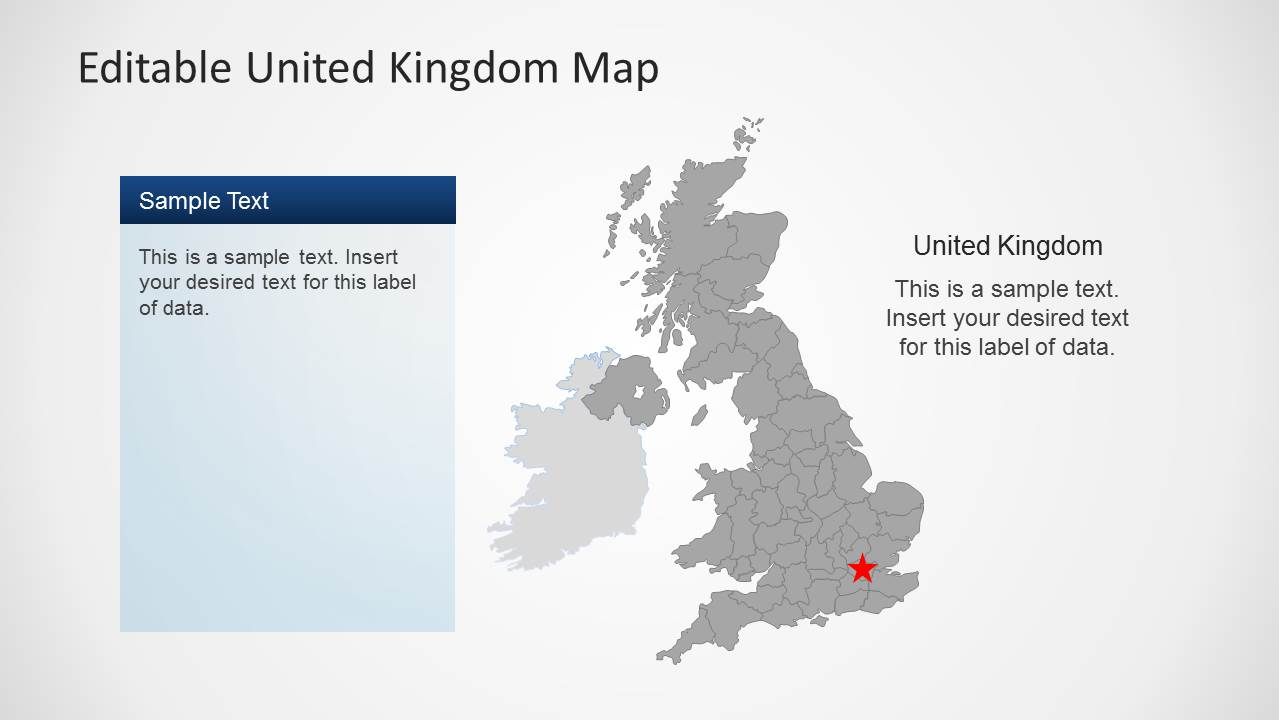 United Kingdom London Map.Uk Map Template For Powerpoint