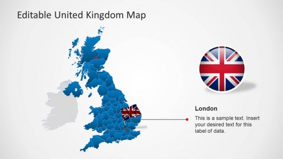 Individual States of UK PowerPoint Map
