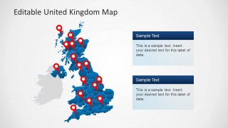 UK PowerPoint Map with Location Icons