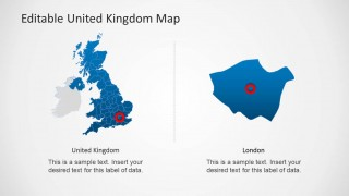 PPT Map of United Kingdom with London Locator Icon