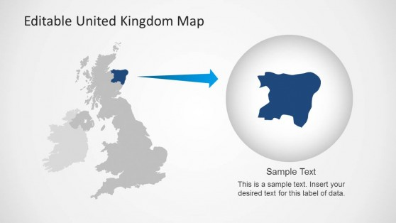 UK PowerPoint Map with State Highlight