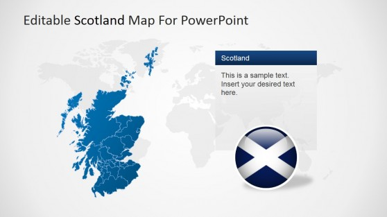 Scotland Map for PowerPoint with Logo and Text
