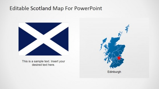Scotland Flag and Map for PowerPoint