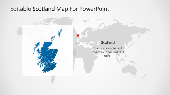 Scotland and the World Map for PowerPoint