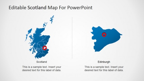 Edinburgh and Scotland Map for PowerPoint