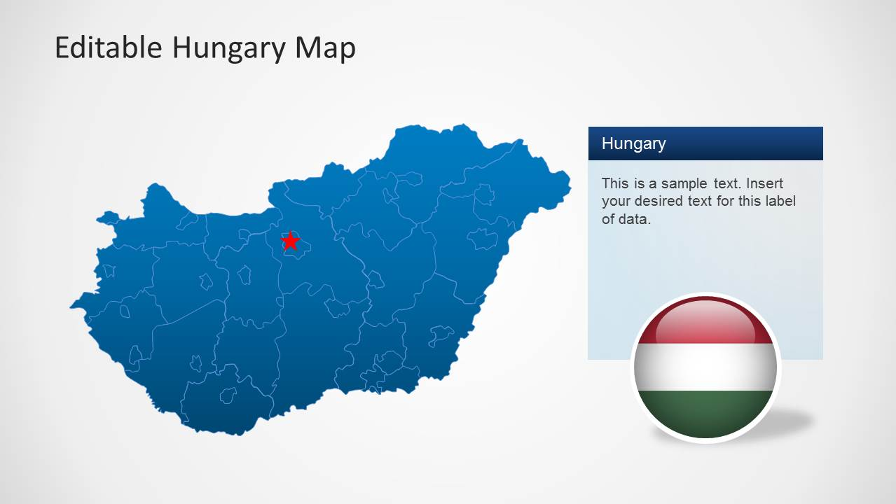 editable hungary map template for powerpoint